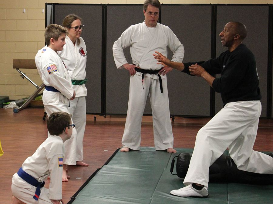 Michael Logan teaches Taekwon-Do at Mulberry Recreation Center in Lenoir