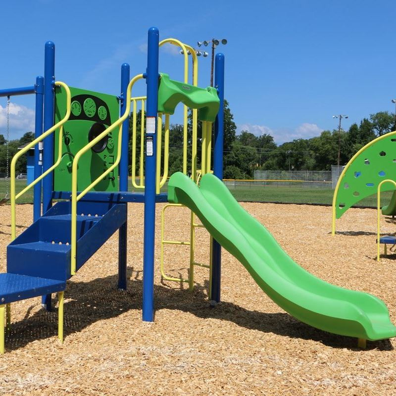 Playground equipment at Lenoir Optimist Park