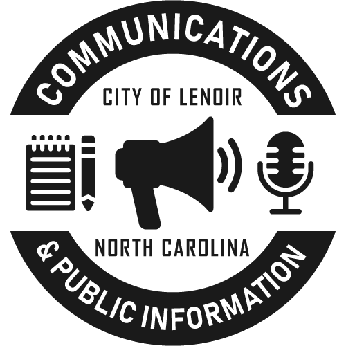 Communications and Public Information logo, City of Lenoir, North Carolina