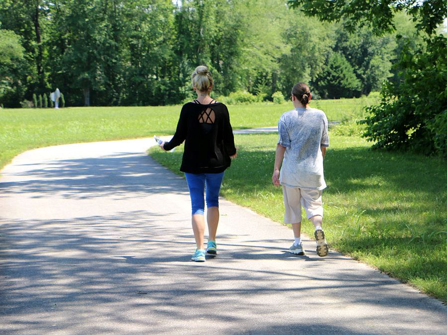 Ladies walking on the Lenoir Greenway