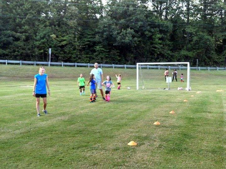 Children playing soccer at the Lenoir Rotary Soccer Complex in Lenoir