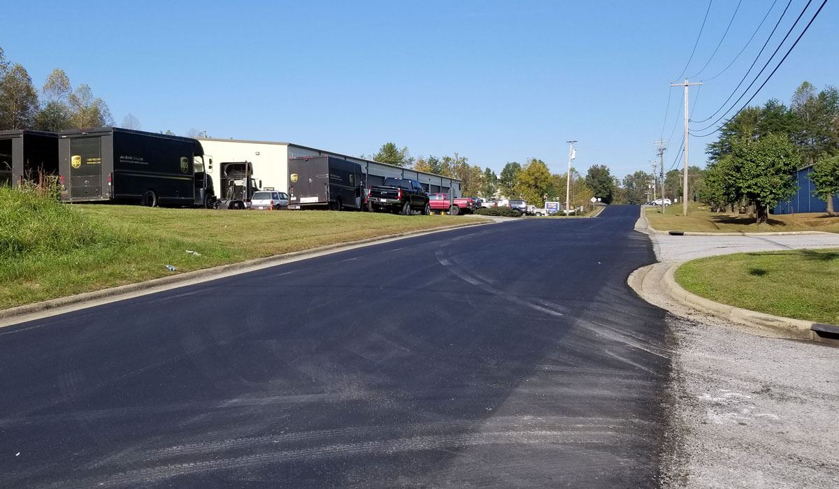 Paving on Industrial Court in Lenoir, Oct. 22, 2020