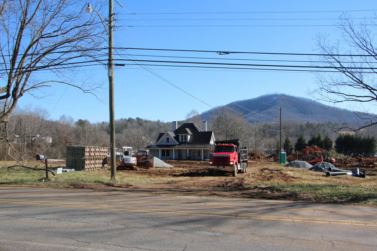 The Kattz Corner property as seen from Lower Creek Drive.